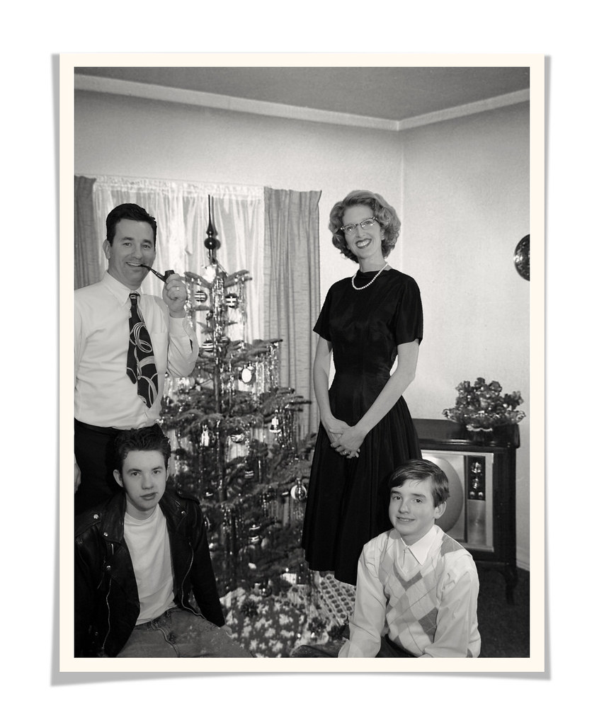 1950 s family christmas card faux vintage one of the