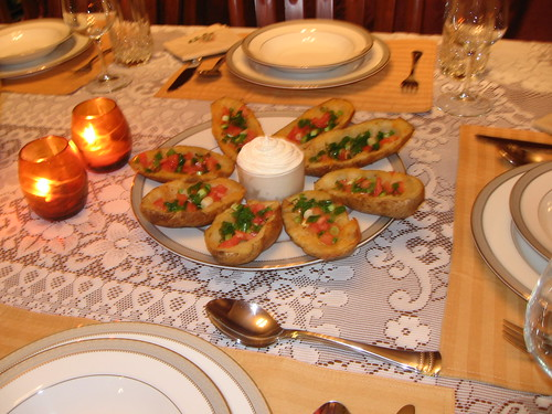 fancy Thanksgiving potato skins | by emily dickinson bronte post