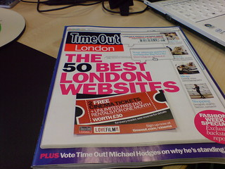 TimeOut London Magazine - cover story is 50 Best London Websites | by Route79
