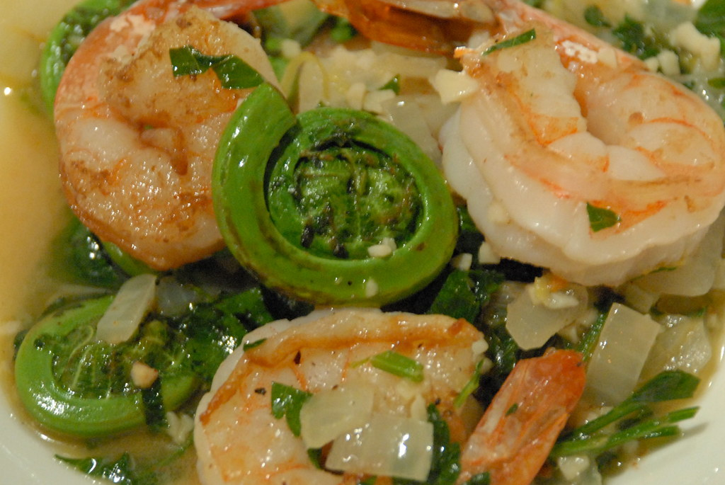... May 27, 2008 | Shrimp scampi with fiddleheads. We blo… | Flickr