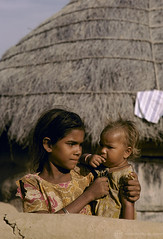 Portrait two children in village. India | by World Bank Photo Collection