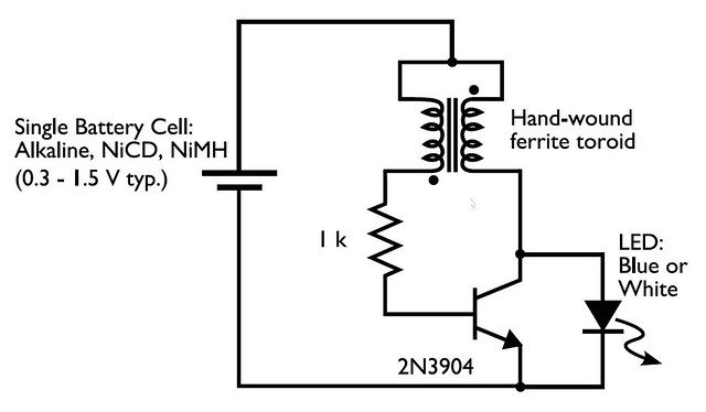 joule thief circuit diagram