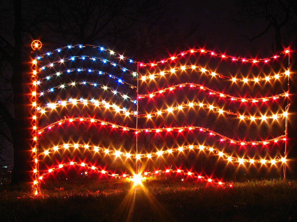 Christmas Centennial Park 9 Flag Lights Flickr American