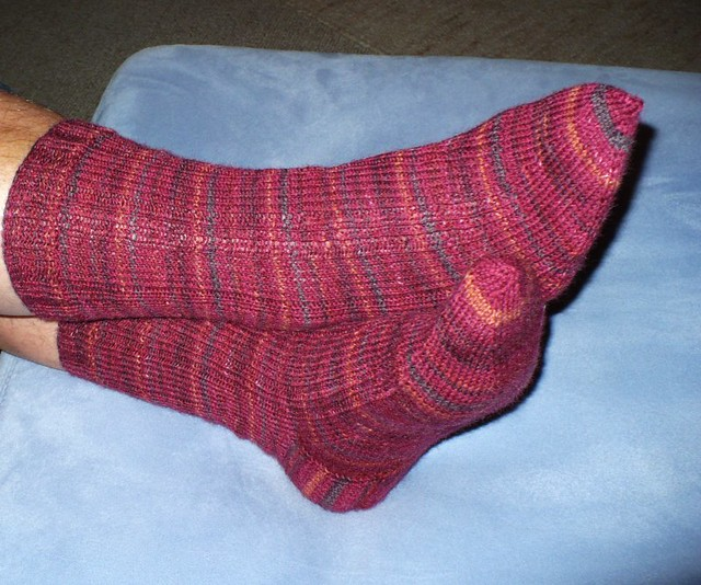 Madder Ribbed Sock Pattern from