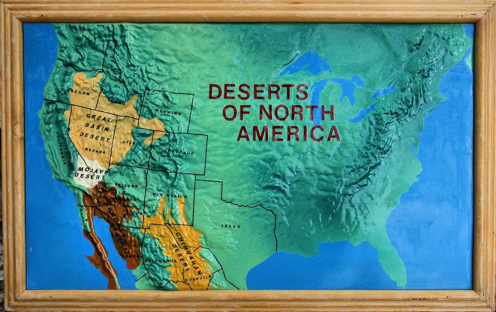 Deserts Of North America This Was A Map That Was On Displa Flickr - Map of deserts in the us