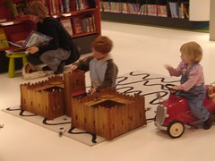 children playing with the Library's toys | by The Shifted Librarian