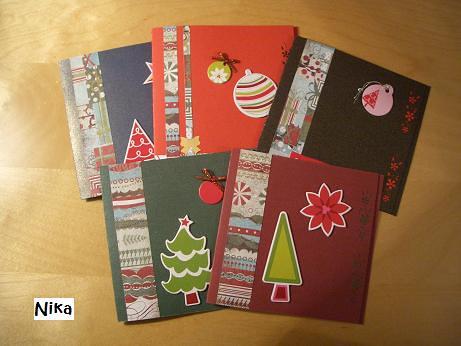 Postales navide as hechas a mano con el material para - Postal navidena infantil ...