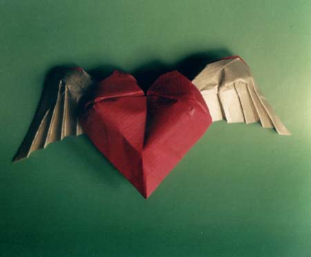 Heart With The Wings Created And Folded Tomasz Siwak Tomasz