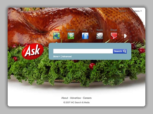Ask.com Thanksgiving Logo 2007 | by rustybrick