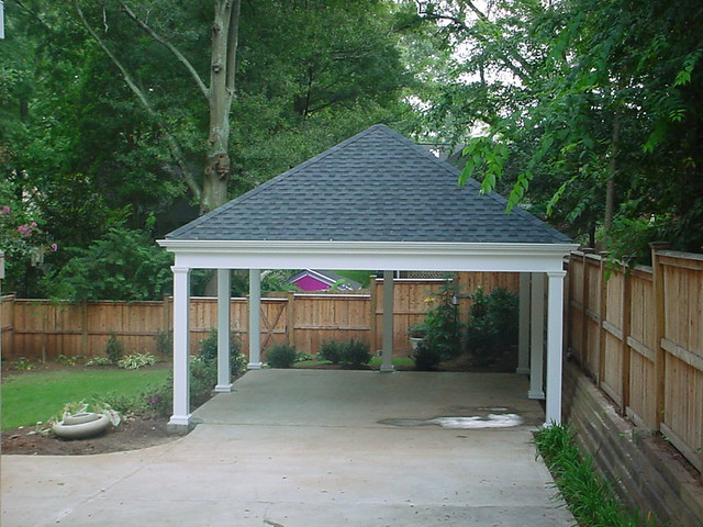 Hip Roof Carports : Carport simple with hip roof homerebuilders