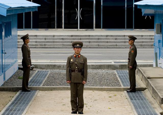 Korean Demilitarized Zone North Korea In The Front