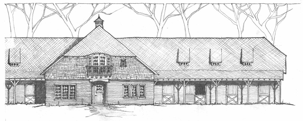 Allison Horse Barn Hand Sketch