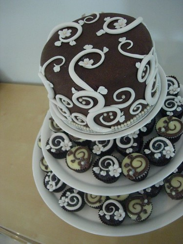 Art Nouveau Cake Designs : Art Nouveau Wedding Cake Tower Just what Purple Tiger ...