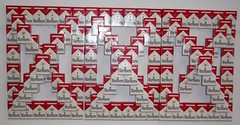 Cig Pyramids III (front view), dimensions variable, Marlboro boxes and glue | by John Norwood