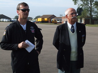 Sqn. Ldr. Pinner and LLA Chairman Stuart Stephenson | by cakeyspig