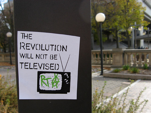 The Revolution Will Not Be Televised | by david drexler
