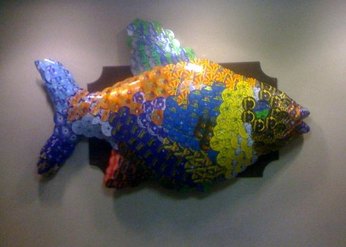 Fish Made Out Of Old Aol Cds Frank Gruber Flickr