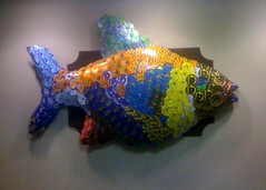 Fish Made Out Of Old AOL CDs | by Frank Gruber