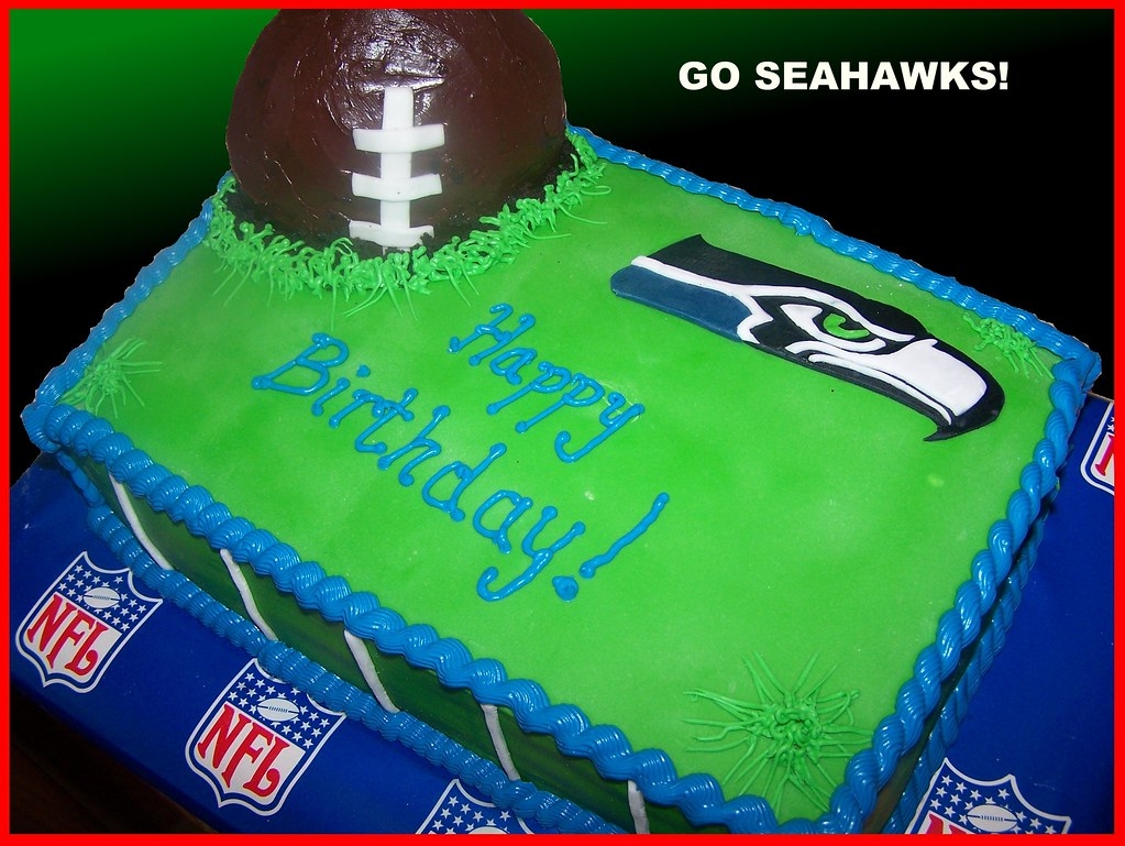Seahawks Cake This Was For My Step Dad He Is A Huge