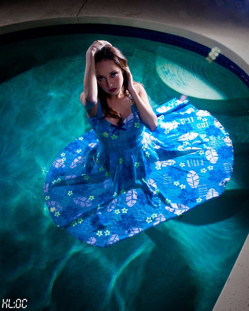 Blue Dress in the Pool | I love shooting in pools and it ...