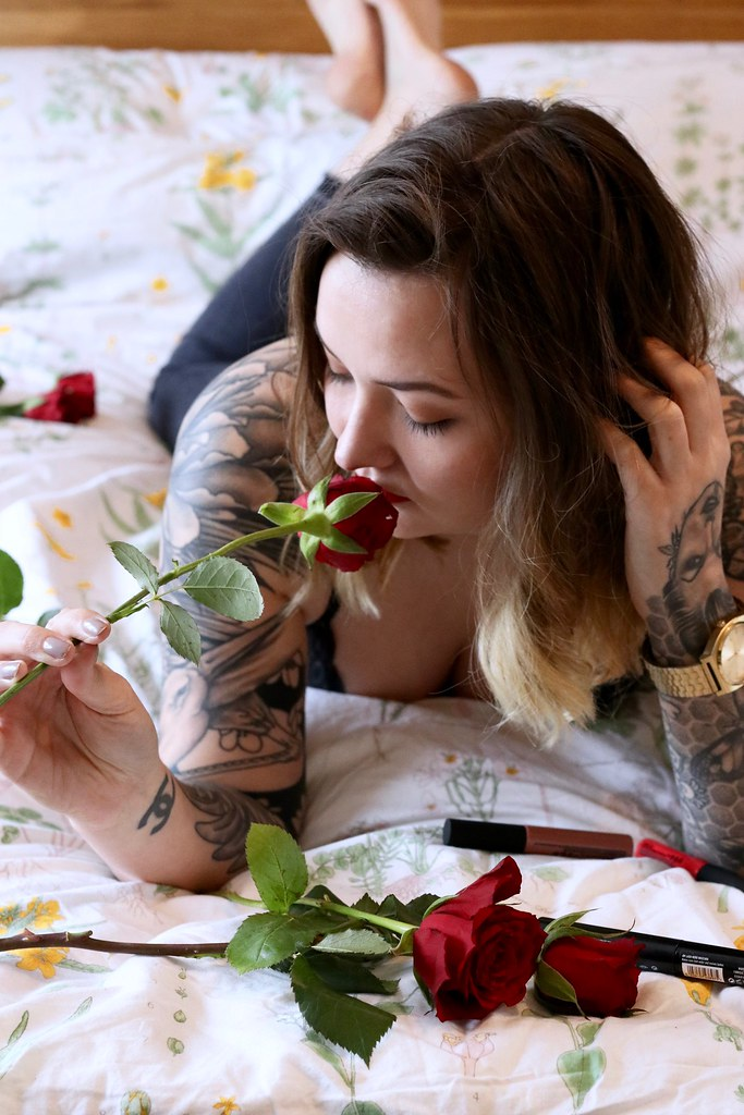 the body shop, the body shop matte liquid lipstick review, valentines day, things to do on valentines day, katelouiseblog, tattoos, girls with tattoos, inked girls, lingerie for valentines day,