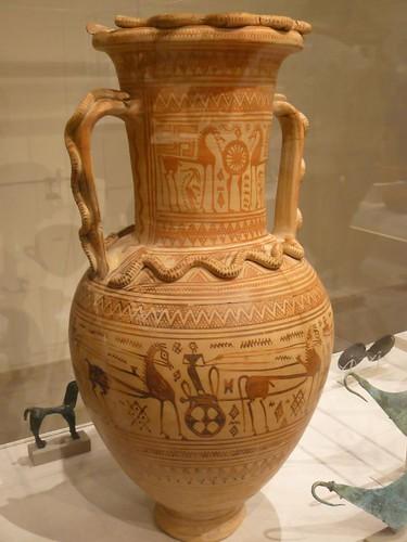 Terracotta Neck Amphora Greek Attic Geometric Fourth Quart