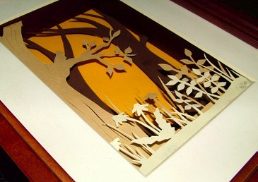 Paper Cut Shadow Box Detail Multi Dimensional Paper
