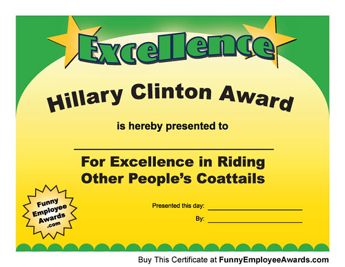 Hillary Clinton Award - Funny Awards | There is someone at ...