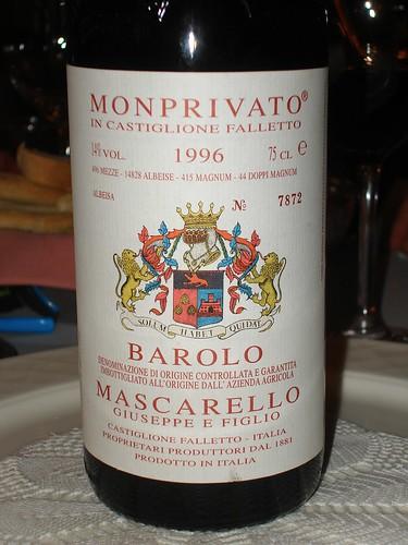 Giuseppe Mascarello, 1996 Barolo Monprivato