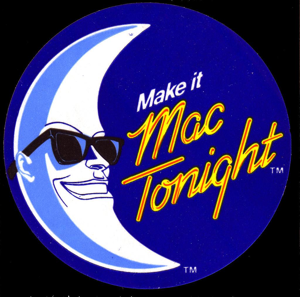 Cheap Cool Stuff >> McDonalds - Mac Tonight promo sticker - 1986 | Mac Tonight w… | Flickr