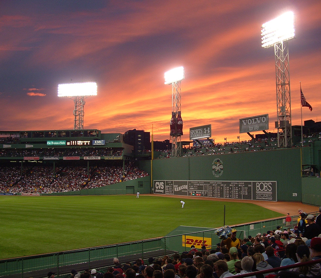 sunset at fenway park sunset the night of june 3 2005