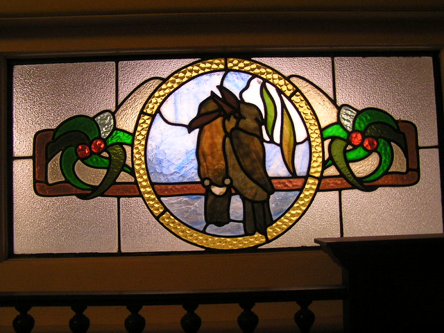 ... The Kookaburra Stain Glass Window At Front Door | By Poppins Mosaics  And Crafts