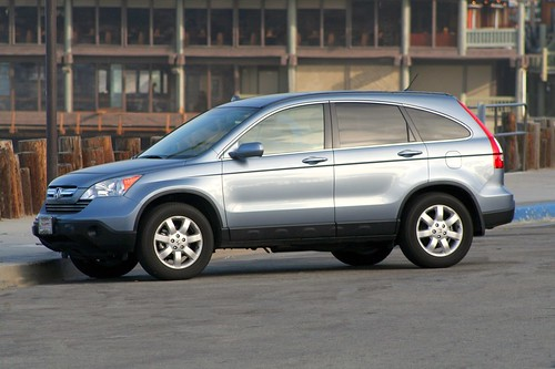 ... Honda CR-V EX-L 4WD Glacier Blue Metallic at Redondo Beach Pier |