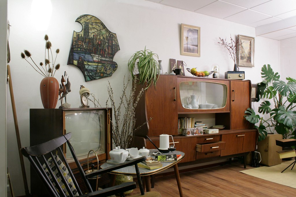 Elle wonen 11 woonkamer jaren 60 flickr for Interieur 70 jaren