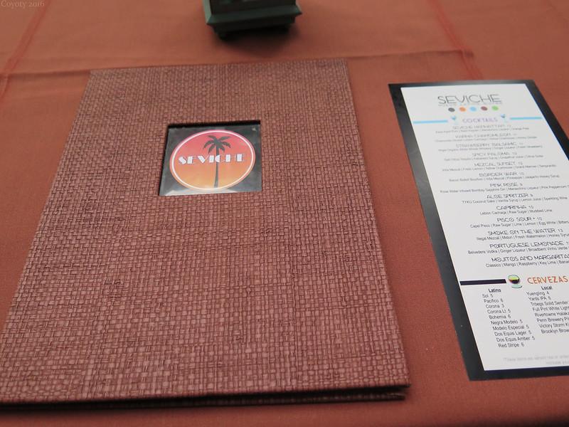 Seviche's menus