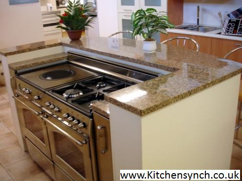 kitchen island cooker traditional kitchen with island and large range cooker 1877