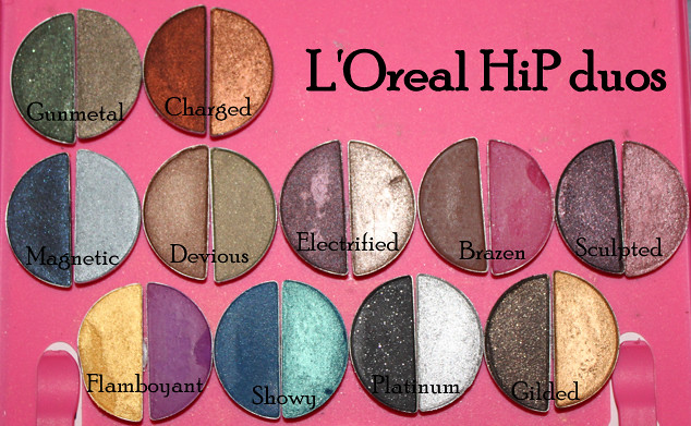 l'oreal hip eyeshadow duos | in my cheap homemade DVD case p… | Flickr