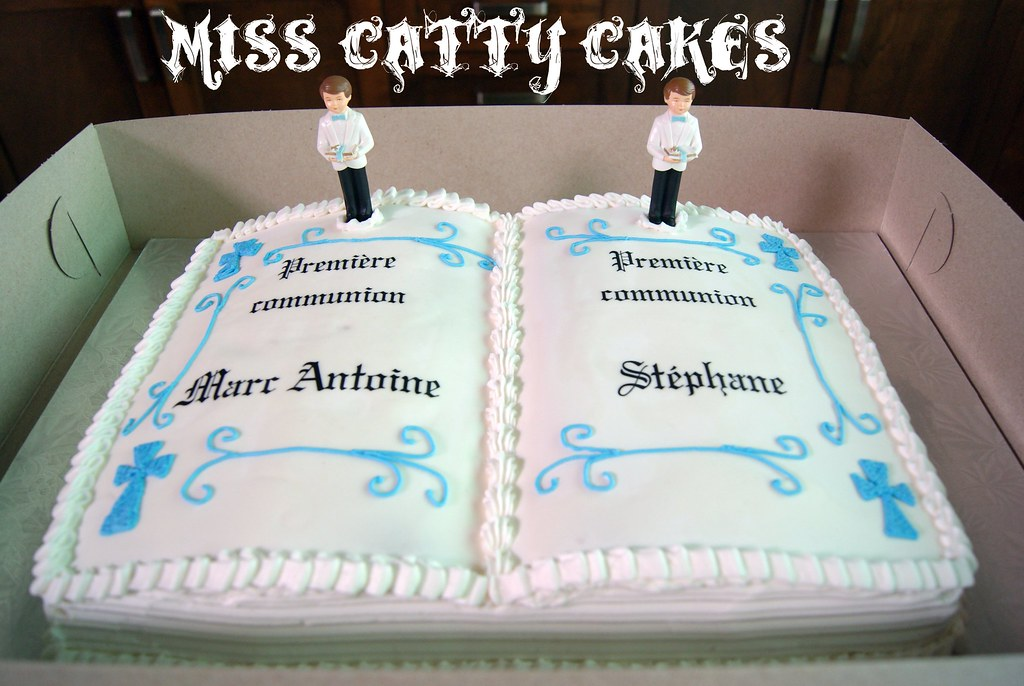 Double First Communion Cake Miss Catty Cakes Cake Design