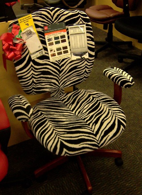 ... Zebra Print Office Chair | By SA_Steve