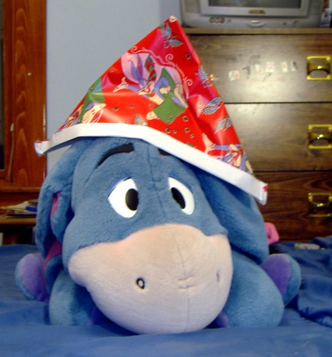 christmas eeyore i had some extra wrapping paper and extra flickr