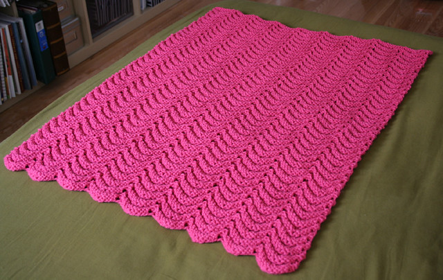 Project Linus Security Blanket from Knitting for Peace Flickr