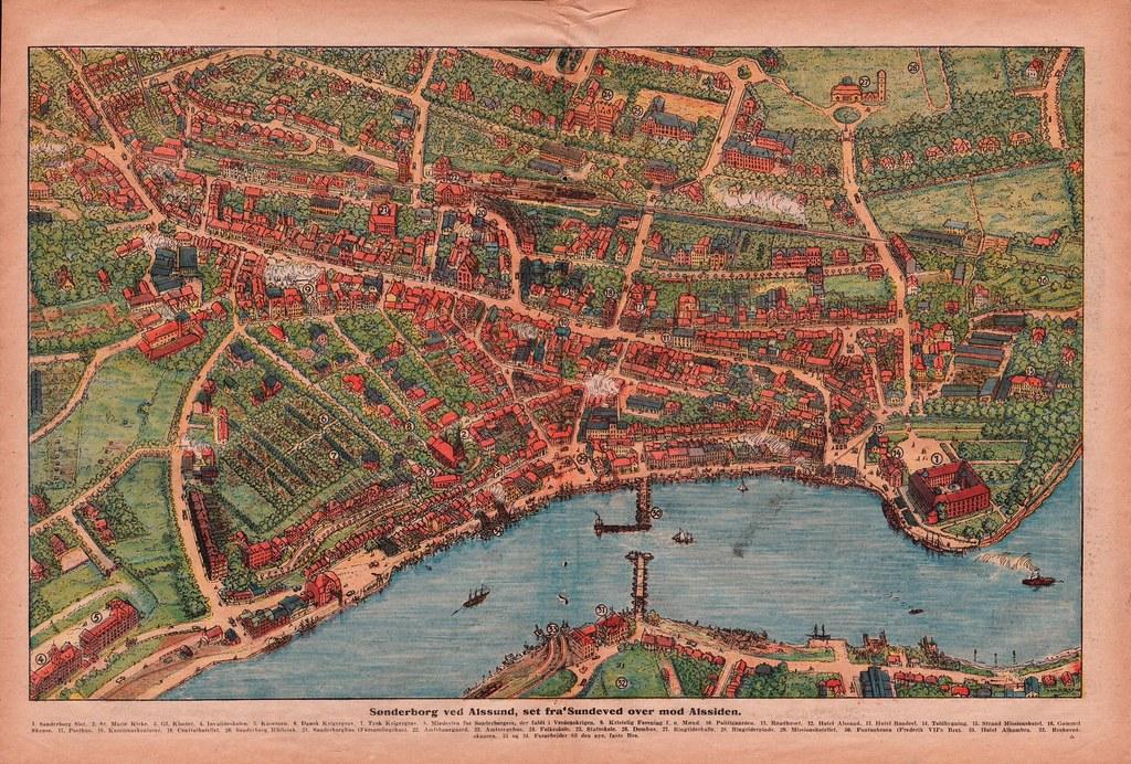 Sønderborg rejst kort fra familiejournalen nr 21 1928 | Flickr