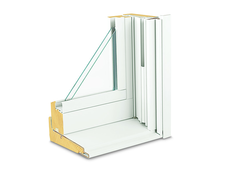 Double Hung Window Section : Series tilt wash double hung insert window corner sect