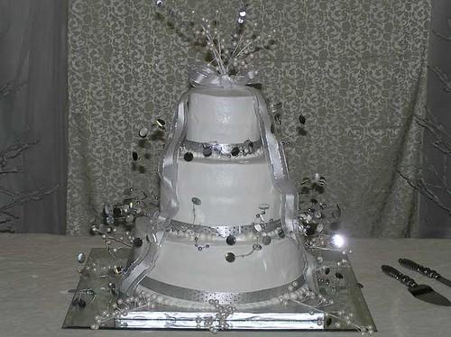 Black White Silver Wedding Cakes