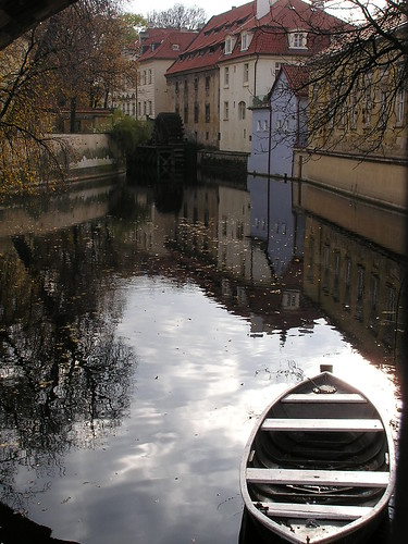 Sun Reflection Covered by a Boat on Malá Strana, Prague | by Istvan