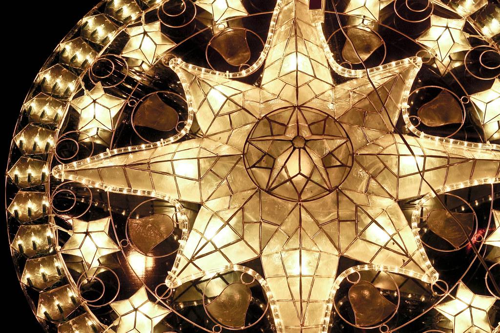 christmas lantern made of capiz seashells philippines by gohucasoneric
