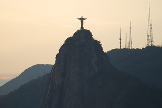 The statue of Christ The Redeemer taken from Sugarloaf Mountain at sunset, Rio de Janeiro, Brazil | by Paul Mannix