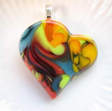 Fused Glass Heart Mould