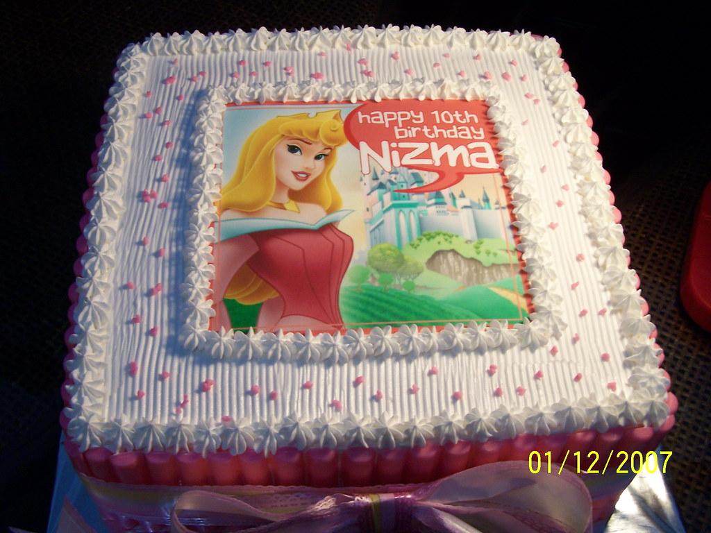 Princess Aurora Cake Nizmas 10th Birthday Cake Sulis Zulkarnaen