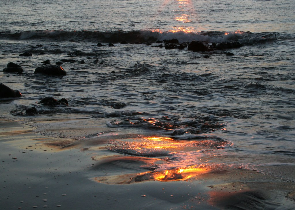 Fire Flames Reflected In Water Stock Photo, Royalty Free Image ...